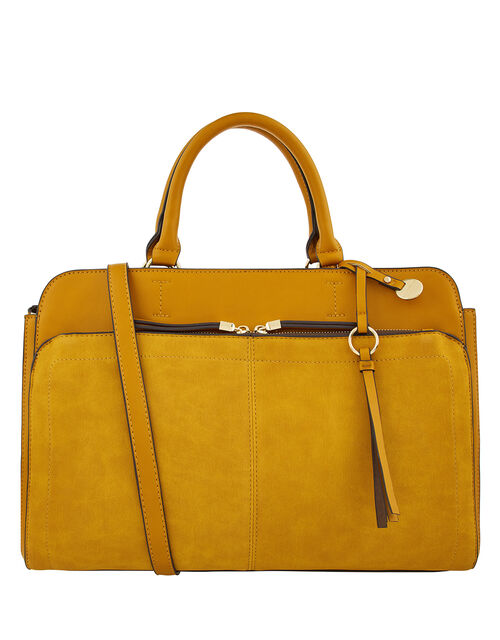 Maddie Work Bag, Yellow (OCHRE), large