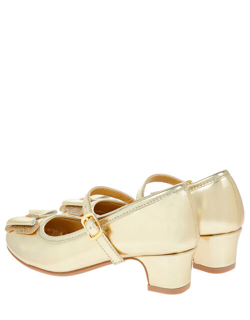 Flamenco Bow Party Shoes, Gold (GOLD), large