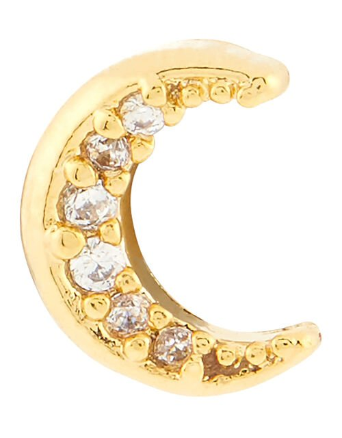 Crystal Moon Flat-Back Stud, , large