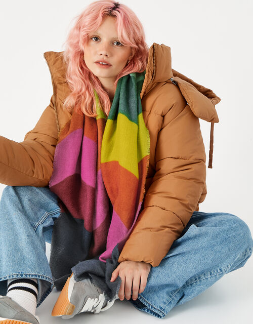Rainbow Wave Supersoft Blanket Scarf , , large