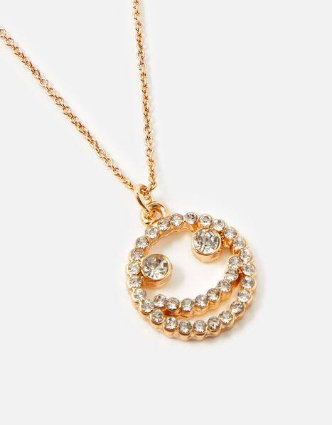 Crystal Smile Pendant Necklace , , large