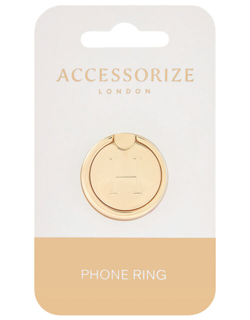 Metallic Initial Phone Ring - H, , large