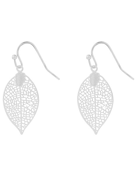 Filigree Leaf Drop Earrings, , large