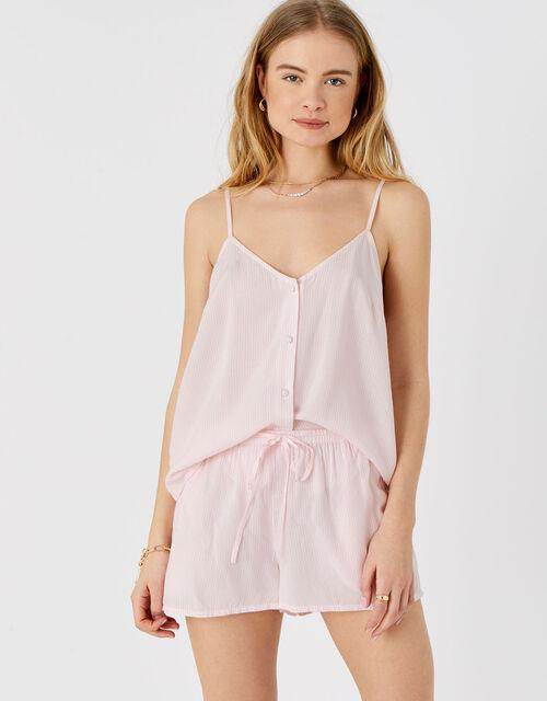 Striped Vest and Shorts PJ Set , Pink (PINK), large