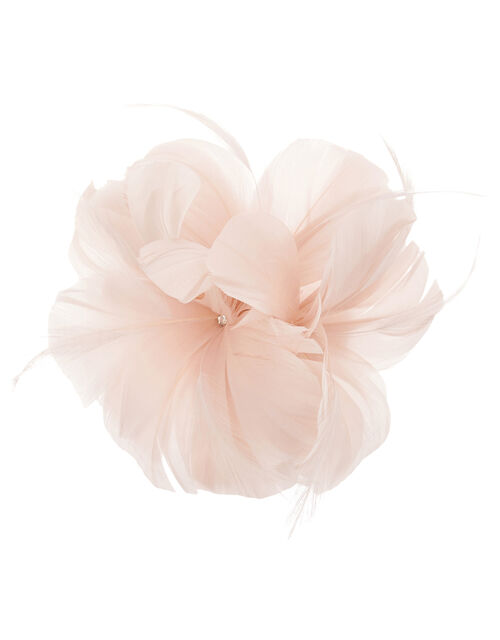 Abigail Net Bow Hair Clip, Pink (PALE PINK), large
