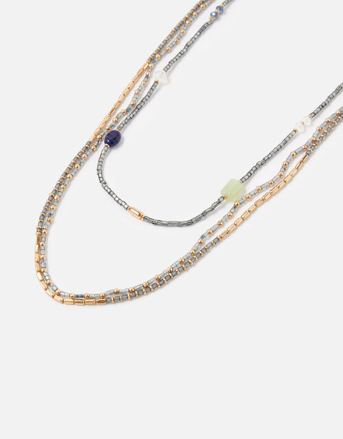 Midnight Sky Seedbead Rope Necklace, , large