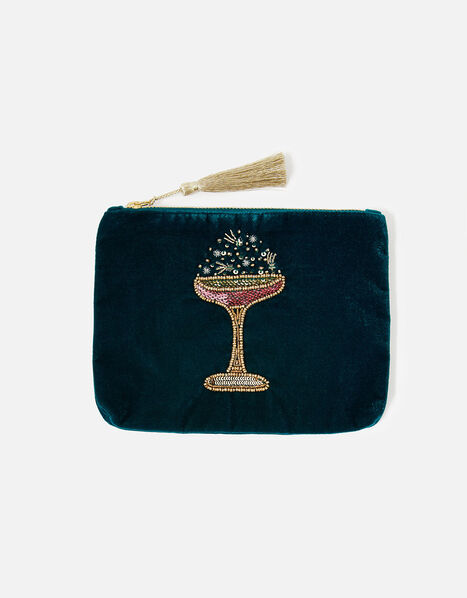 Cocktail Velvet Pouch Bag, , large