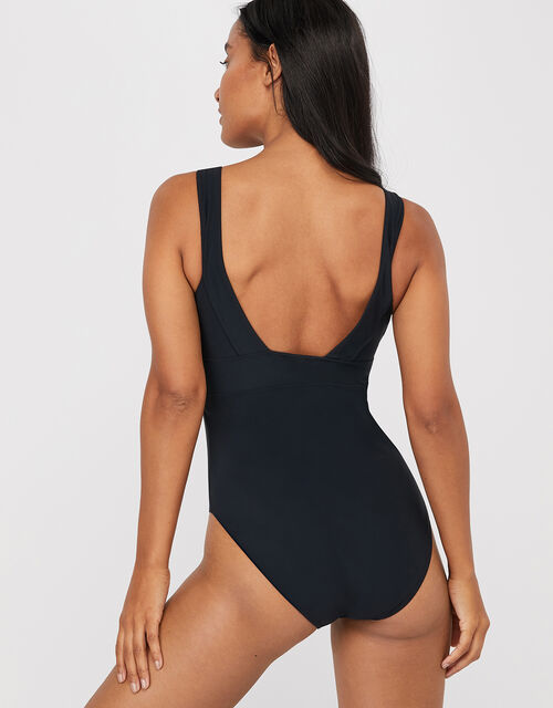 Lexi Plunge Shaping Swimsuit, Black (BLACK), large