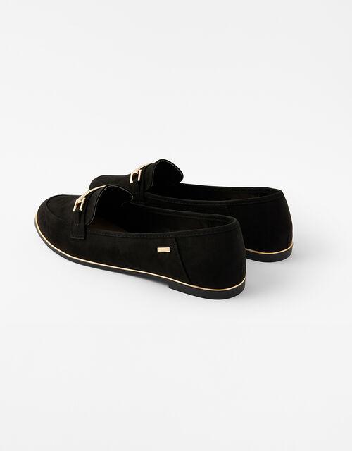 Metal Bar Loafers, Black (BLACK), large