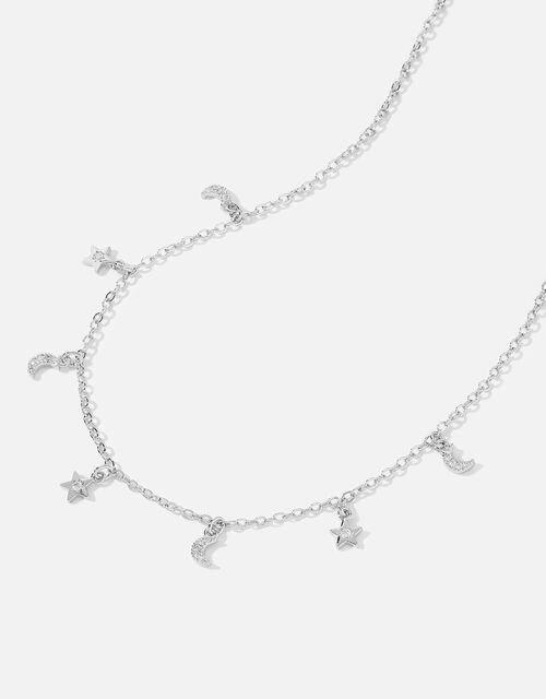 Platinum-Plated Celestial Charm Necklace , , large