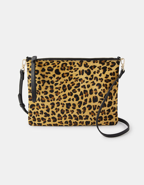 Carmela Leopard Clutch Bag, , large
