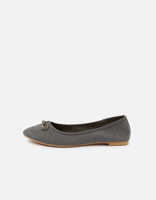 Sophia Bow Ballerina Flats, Grey (GREY), large