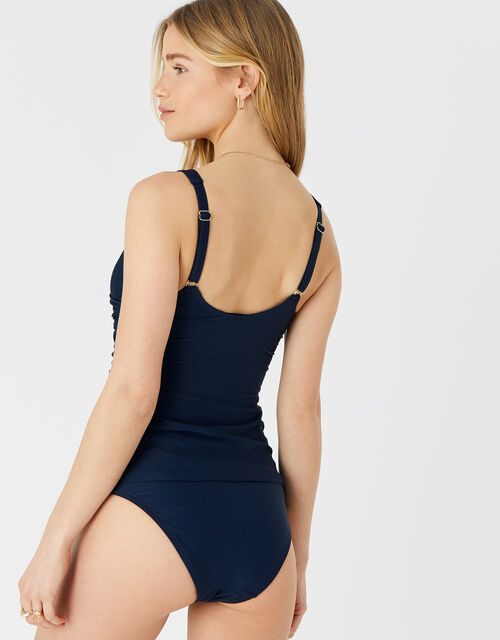 Twisted Tankini Top, Blue (NAVY), large