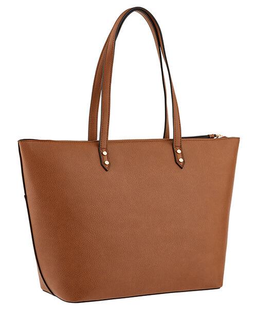 Molly Tote Bag, Tan (TAN), large