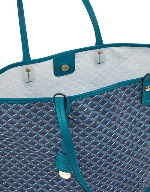Geo Print Tote Bag, , large