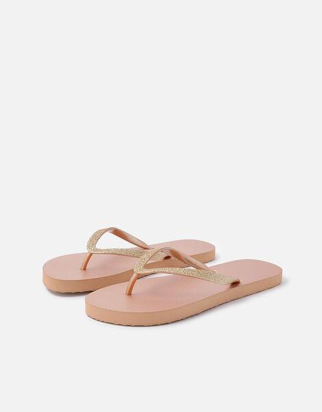 Glitter Flip Flops Nude, Nude (NUDE), large