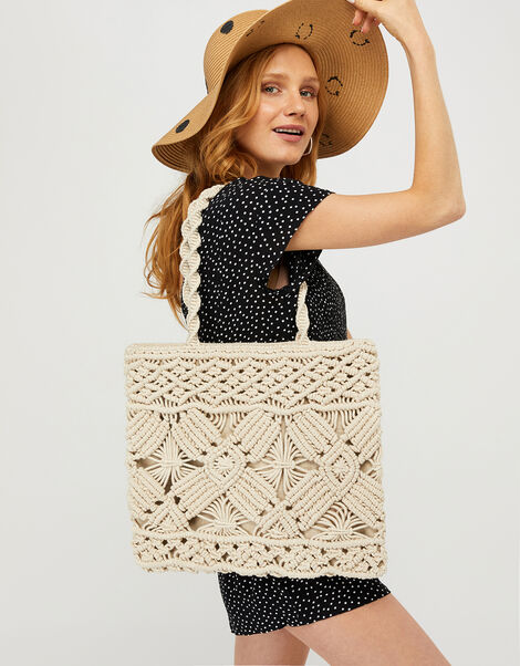 Macrame Shopper Bag, , large