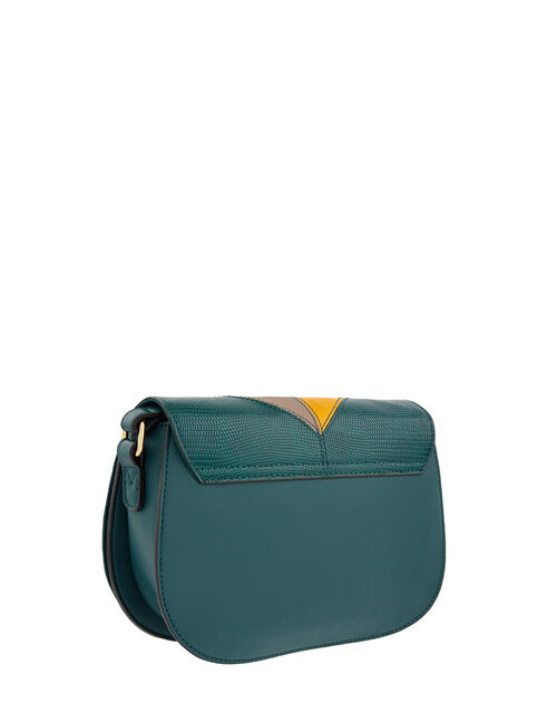 Polly Patchwork Cross-Body Bag, Green (GREEN), large