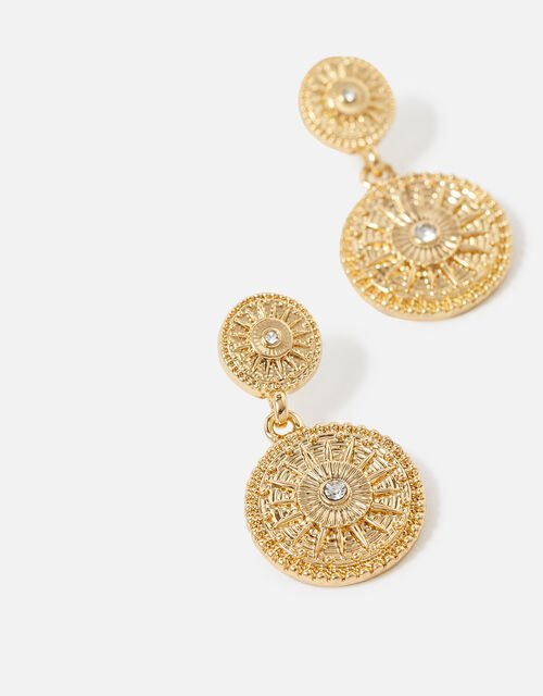 Berry Blush Short Drop Coin Earrings, , large