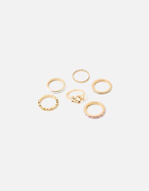 Meadow Muse Stacking Ring Set, Pink (PINK), large