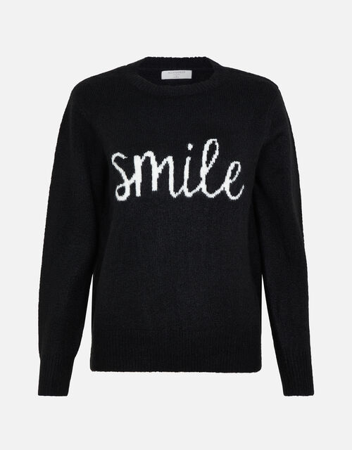 LOUNGE Smile Jumper, Black (BLACK), large