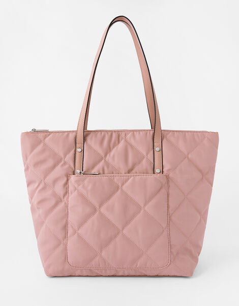 Tilly Quilted Tote Bag Nude, Nude (NUDE), large