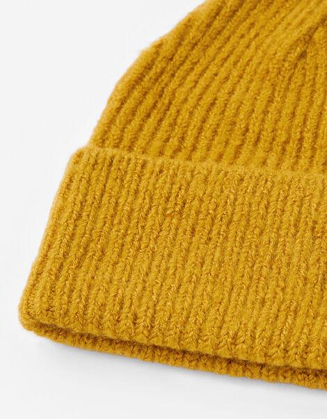 Soho Knit Beanie Hat Yellow, Yellow (OCHRE), large
