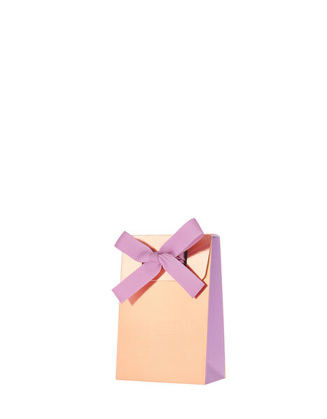 Metallic Gift Pouch with Bow, , large