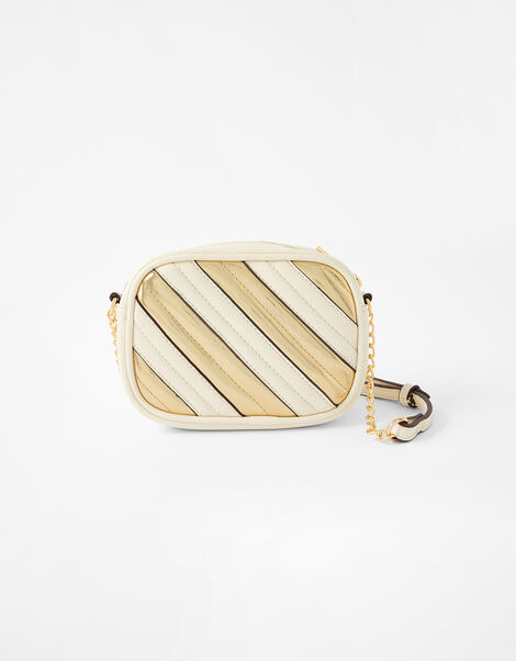 Stripe Cross-Body Camera Bag Cream, Cream (CREAM), large