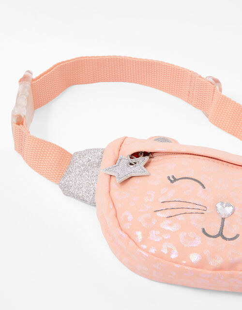 Glitter Cat Belt Bag, , large