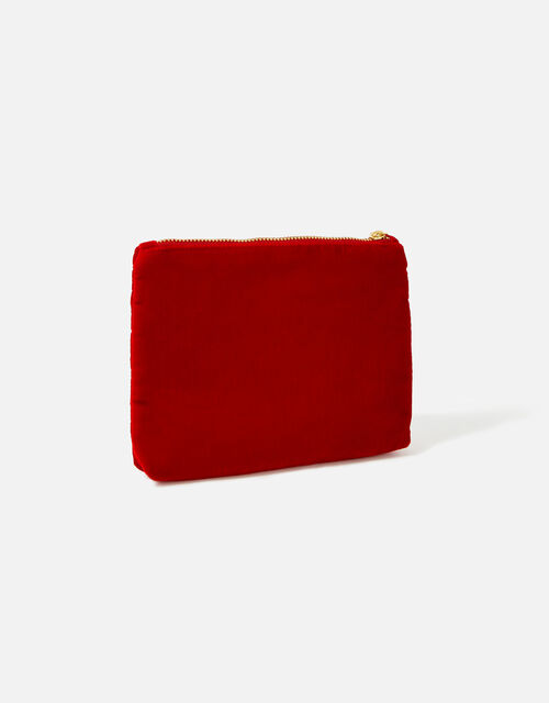Initial Pouch Bag, Red (RED), large