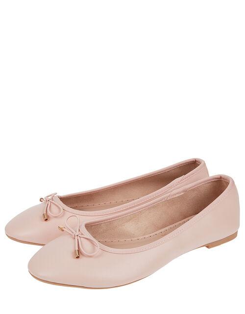 Sophia Bow Detail Ballerina Flats, Nude (NUDE), large