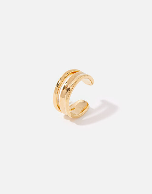 Gold-Plated Twisted Ear Cuff , , large