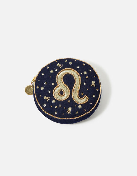 Star Sign Coin Purse Blue, Blue (NAVY), large