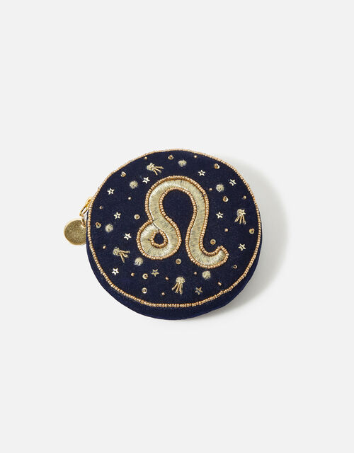 Star Sign Coin Purse, Blue (NAVY), large