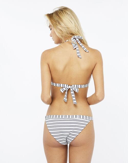 Textured Stripe Bikini Briefs, Blue (NAVY), large