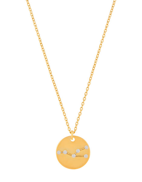 Gold-Plated Constellation Necklace - Taurus, , large