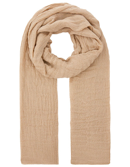 Metallic Lightweight Scarf, Gold (GOLD), large