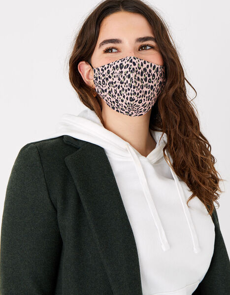 Leopard Print Face Covering, , large