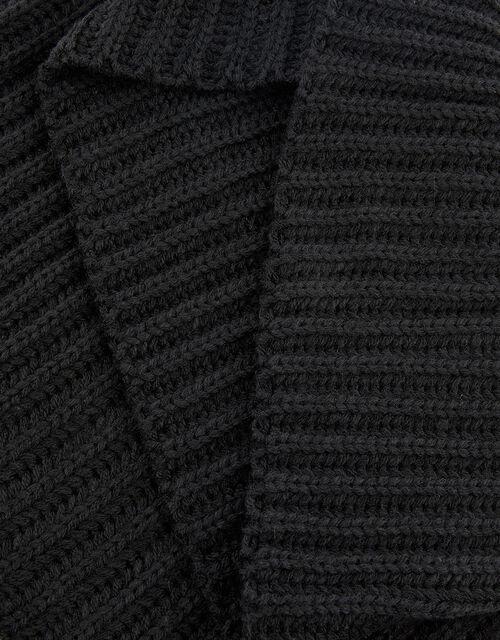 Chunky Knit Snood, Black (BLACK), large