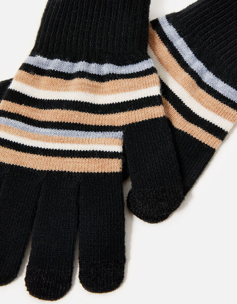 Stripe Super-Stretchy Touchscreen Gloves, , large