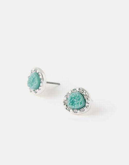Sparkle Turquoise Stud Earrings, , large