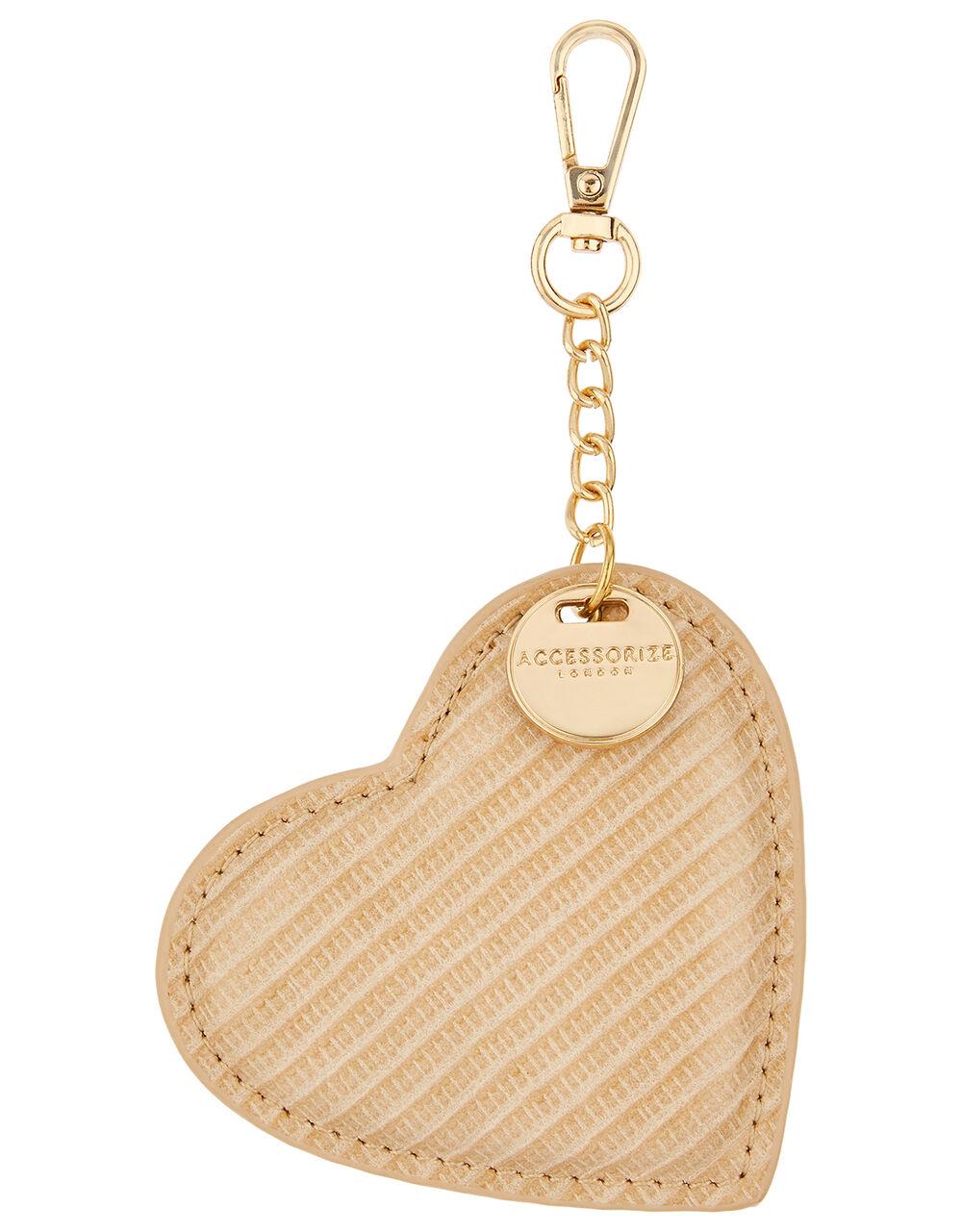Heart Bag Charm, Cream (CREAM), large