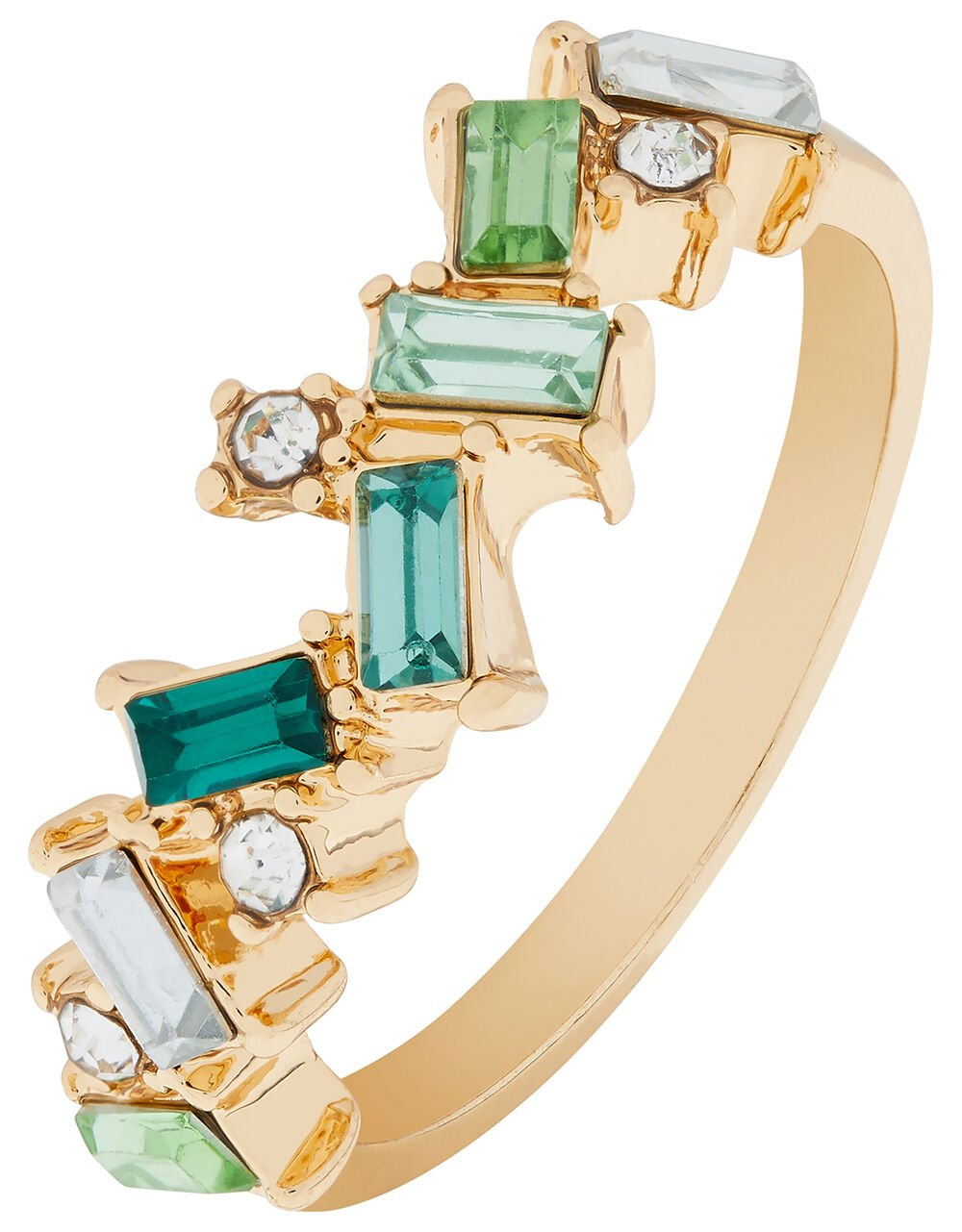 Irregular Sparkle Baguette Ring, Multi (BRIGHTS-MULTI), large