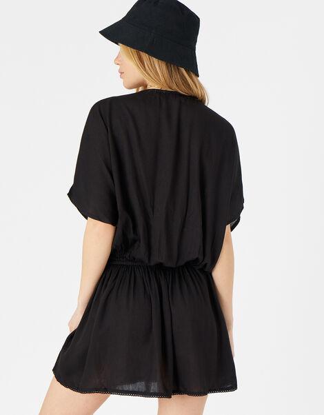 Kerina Cutwork Embroidered Kaftan Black, Black (BLACK), large
