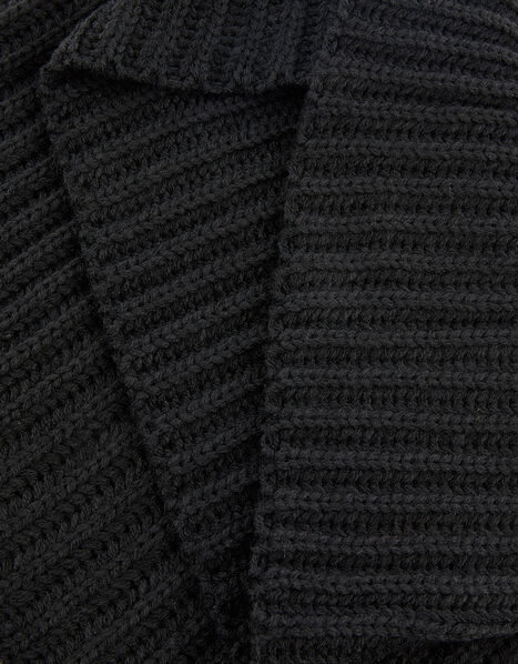Chunky Knit Snood Black, Black (BLACK), large