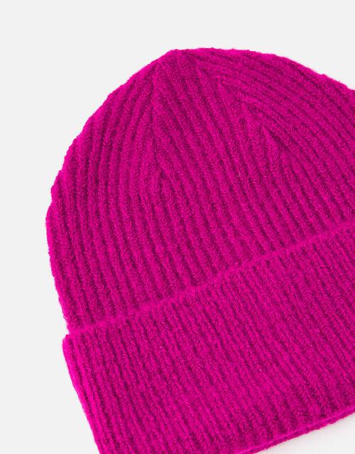 Soho Knit Beanie Hat, Pink (FUCHSIA), large