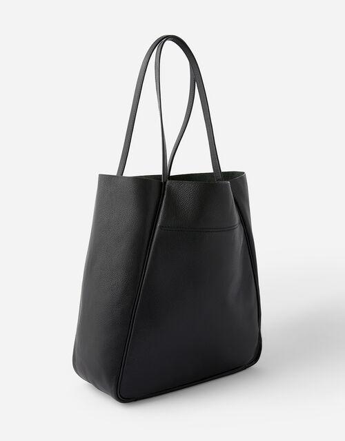 Suki Leopard Leather Tote Bag, , large
