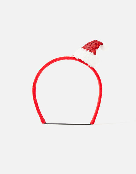 Santa Dog Headband Red, Red (RED), large