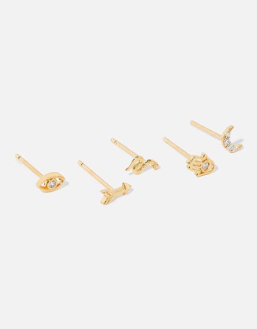 Gold-Plated Talisman Ear Adornment Set, , large